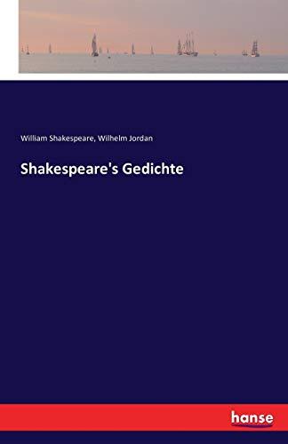 Shakespeare's Gedichte: William Shakespeare