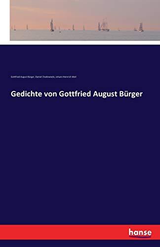 Gedichte Von Gottfried August Bürger Von Bürger Gottfried