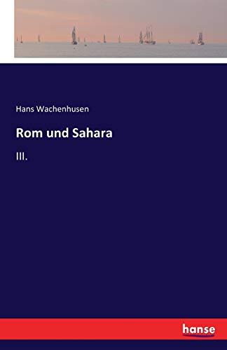9783743312883: Rom und Sahara