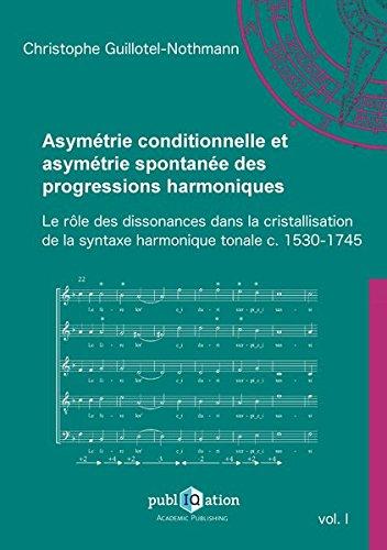 Asymétrie conditionnelle et asymétrie spontanée des progressions harmoniques