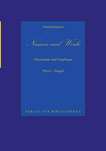 Namen Und Werke 11 (German Edition) - Jantzen, Hinrich