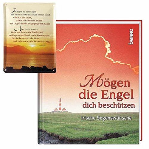 9783746223193: Mögen die Engel dich beschützen / mit Motiv-Blech-Schild: Irische Segenswünsche
