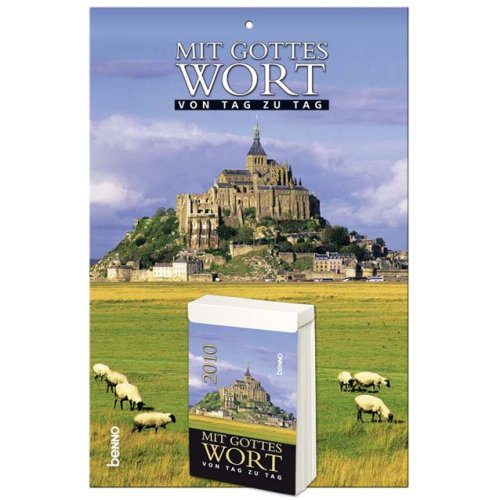 9783746225005: Mit Gottes Wort von Tag zu Tag 2010: Tagesabreißkalender. Kalenderblock 6 X 10,  Rückwand 16 x 23 cm