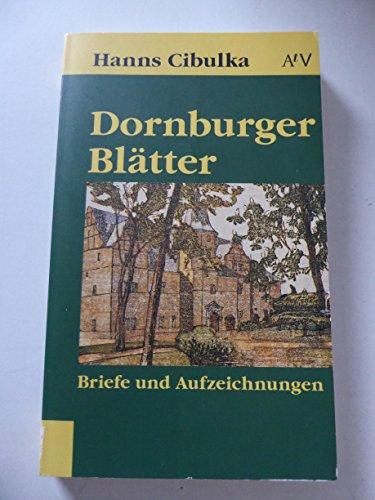 9783746601502: Dornburger Blätter. Briefe und Aufzeichnungen