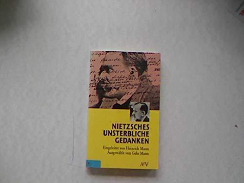 9783746601731: Nietzsches unsterbliche Gedanken. (Dokument und Essay)