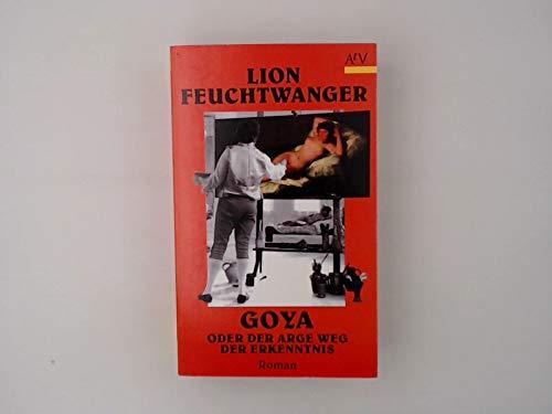 9783746650142: Goya oder Der arge Weg der Erkenntnis. Roman