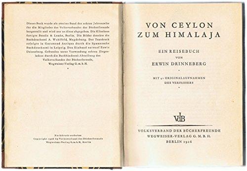 9783754008584: Von Ceylon Zum Himamaja, Ein Reisebuch