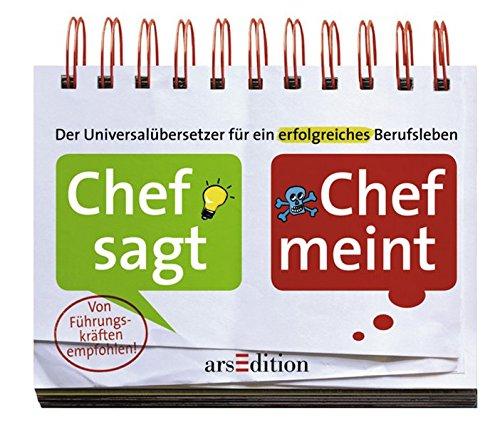 9783760741581: Chef sagt - Chef meint