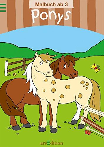 9783760744698: Malbuch ab 3: Ponys