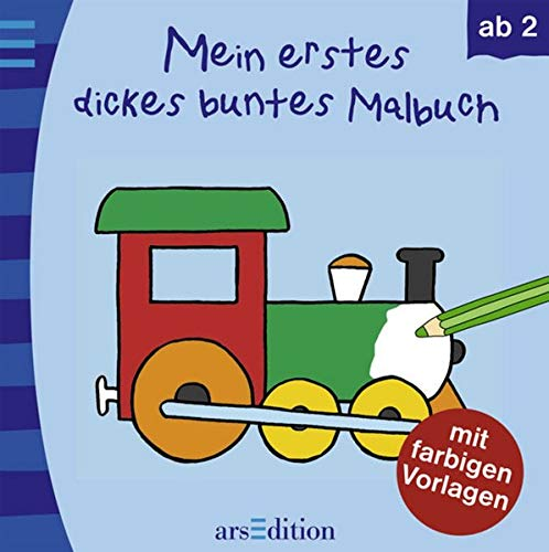 9783760750545: Mein erstes dickes buntes Malbuch: Malbuch mit farb. Vorlagen