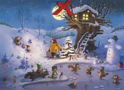 9783760752150: Weihnachten in der Hasenheide: Ein Hase und Holunderbär Adventskalender