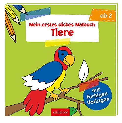 9783760769684: Mein erstes dickes Malbuch: Tiere: Malbuch mit farbigen Vorlagen ab 2 Jahre