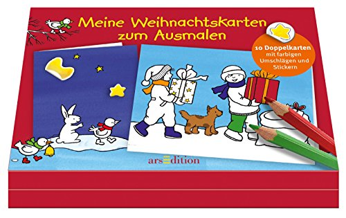 9783760783857: Weihnachtskarten zum Ausmalen