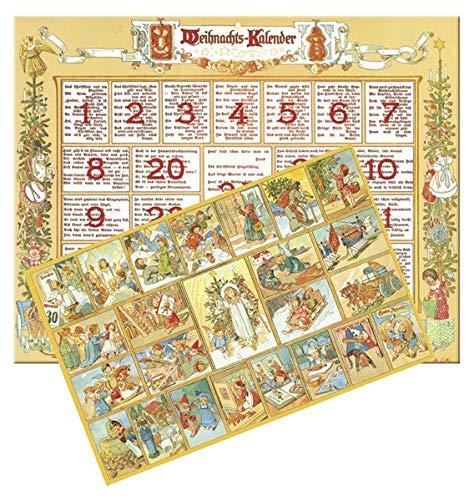 9783760799001: Im Lande des Christkinds: Historischer Adventkalender