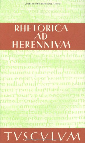 9783760816722: Rhetorica ad Herennium