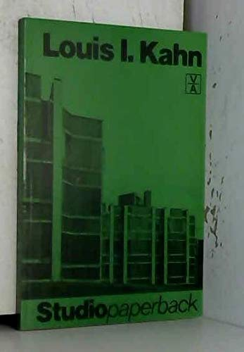 Louis I. Kahn (Studiopaperback): Giurgola, Romaldo; Mehta,