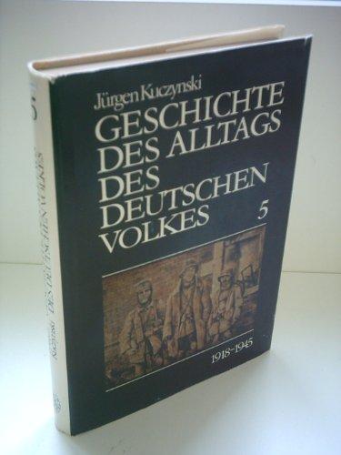 9783760905839: Geschichte des Alltags des Deutschen Volkes: Studien 4: 1871-1918