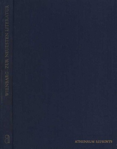 Zur neuesten Literatur (Athenaum-Reprints. Das junge Deutschland): Ludolf Wienbarg