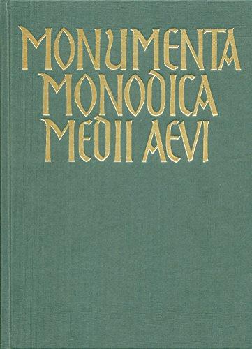 Monumenta monodica medii aevi. Die Gesänge des: Stäblein, Bruno [Hrsg.]