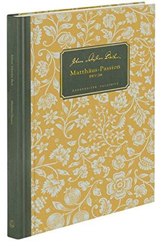 9783761822944: Matth�us-Passion BWV 244: Autograph: Staatsbibliothek zu Berlin - Preu�ischer Kulturbesitz