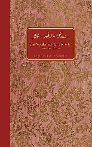 9783761823682: Wohltiemperte klaviere, teil 1 - BWV 846-869 : facsimile of the autograph manuscript