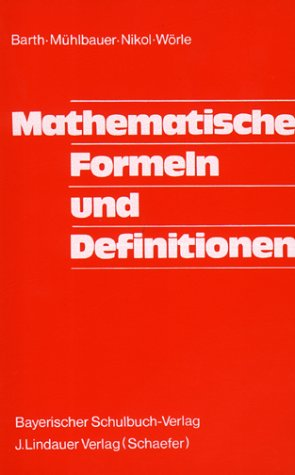 Mathematische Formeln Und Definitionen Mit 114 Teils Mehrfarbigen