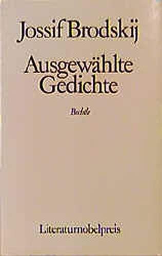 Ausgewählte Gedichte: Joseph Brodsky