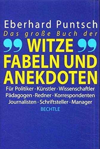 9783762805588: Das große Buch der Witze, Fabeln und Anekdoten