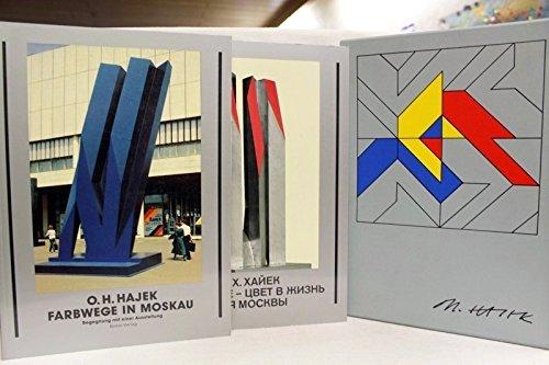 Farbwege in Moskau. 2 Bände. 1 v 250 Exemplaren der Vorzugsausgabe. Hier ohne Nummer. Von Hajek ...