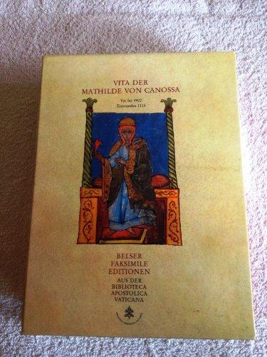9783763050062: Vita der Mathilde von Canossa. Vat. lat. 4922