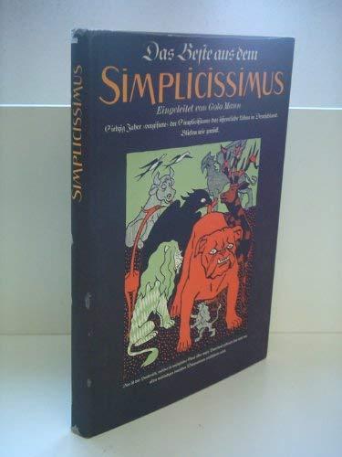 9783763219988: Das beste aus dem Simplicissimus