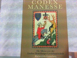 9783763236480: Codex Manesse. Die Miniaturen der grossen Heidelberger Liederhandschrift.