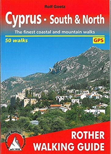 Cyprus - South & North: Rother Walking Guide - 50 walks (Paperback)