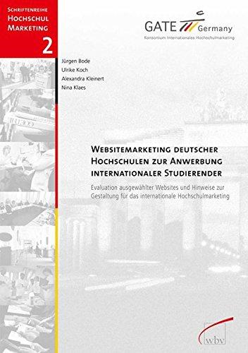 9783763943920: Websitemarketing für Hochschulen: Praxisleitfaden zur Anwerbung internationaler Studierender