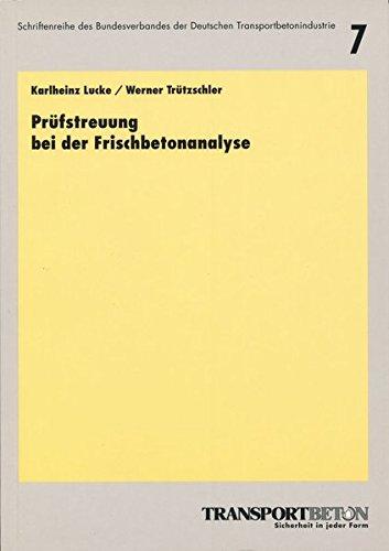 9783764003548: Prüfstreuung bei der Frischbetonanalyse
