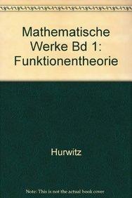 9783764301842: Mathematische Werke Bd 1: Funktionentheorie (German Edition)