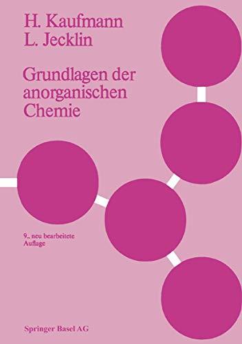 9783764313326: Grundlagen Der Anorganischen Chemie