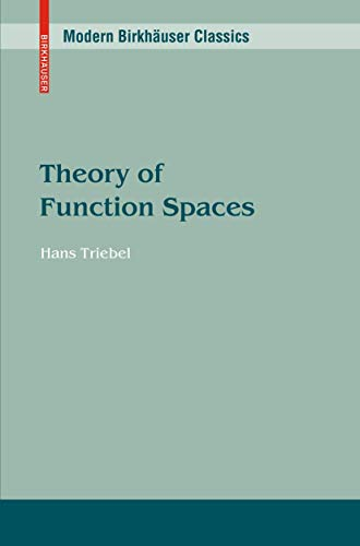 9783764313814: Theory of Function Spaces (Monographs in Mathematics)