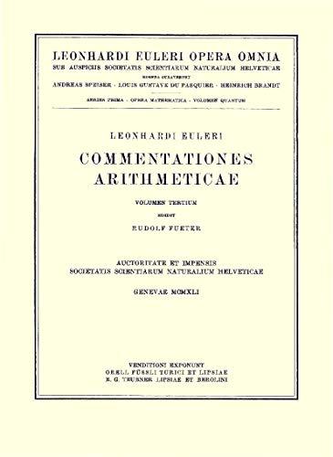 Commentationes Arithmeticae 2nd Part (Hardcover): Leonhard Euler