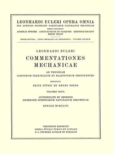 Commentationes Mechanicae Ad Theoriam Motus Punctorum Pertinentes 1st Part (Hardcover): Leonhard ...