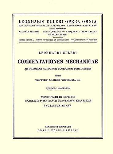 Leonhard Eurleri Opera Omnia: Series Secunda (Paperback): Leonhard Euler