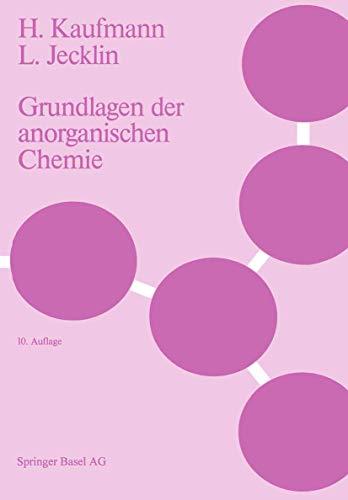9783764317164: Grundlagen Der Anorganischen Chemie