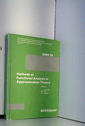 Methods of Functional Analysis in Approximation Theory: MICCHELLI, PAI, LIMAYE