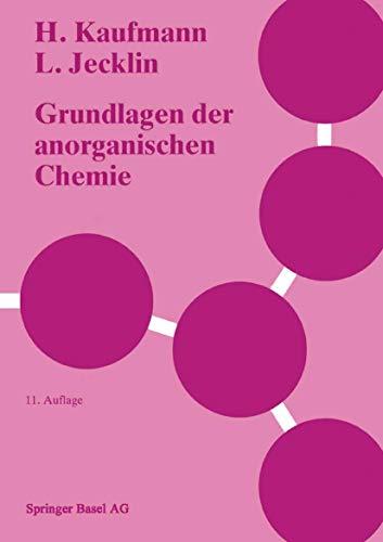 9783764322120: Grundlagen Der Anorganischen Chemie