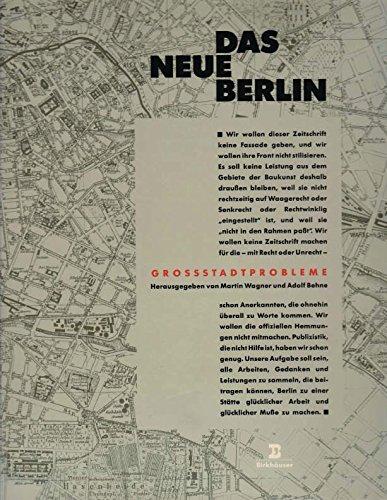 9783764322168: Das neue Berlin: Grossstadtprobleme