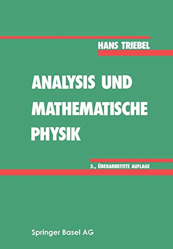 9783764322502: Analysis und mathematische Physik (German Edition)