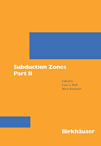 9783764322724: Subduction Zones Part II (Pageoph Topical Volumes)