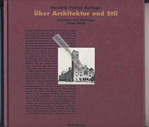 9783764325879: H.P. Berlage: Schriften Zur Architektur