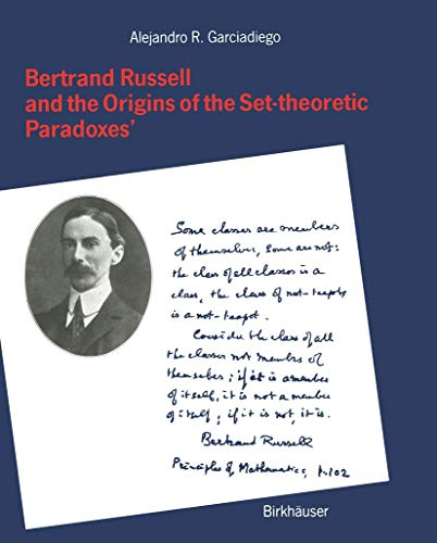 9783764326692: Bertrand Russell and the Origins of the Set-theoretic Paradoxes