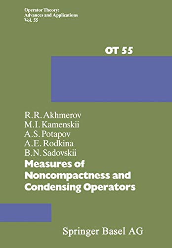 Measures of Noncompactness and Condensing Operators (Operator: R. R. Akhmerov,